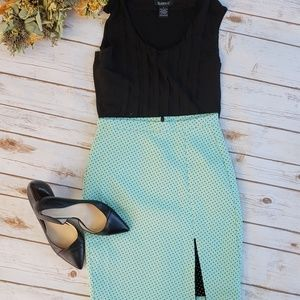 Zara Trafaluc Polka Dot Mint Skirt size Small